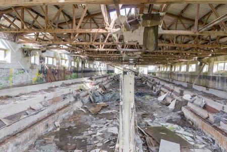 dilapidated: dilapidated barrack in Saxony-Anhalt