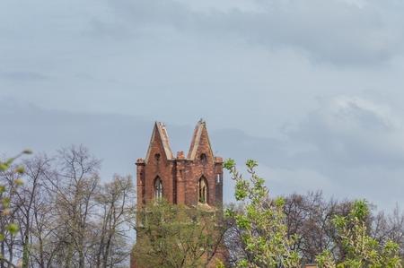 dilapidated: dilapidated St. Nicolai Church in Zeitz
