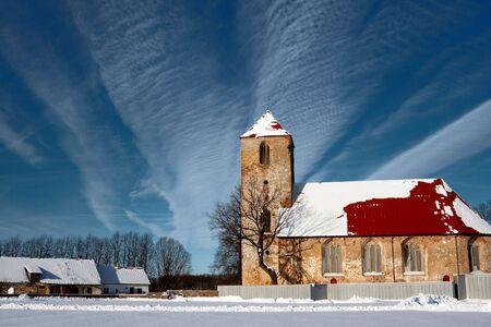 lutheran: Lutheran church in Lestene, Latvia  Stock Photo