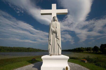 catolic: Monument near the Aglona church,Latvia