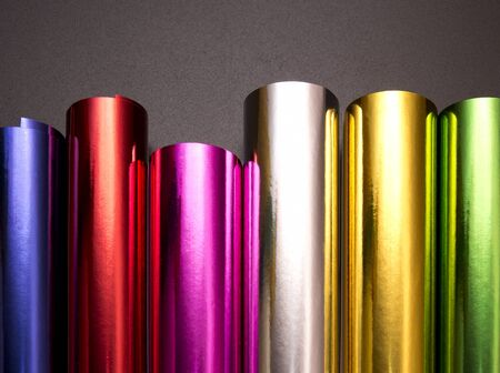 spot the difference: bright color shimmers and reflects on glossy surfaces