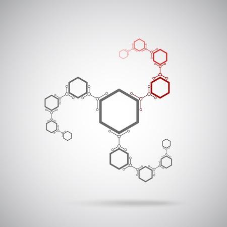 генетика: подключенные серые и красные клетки