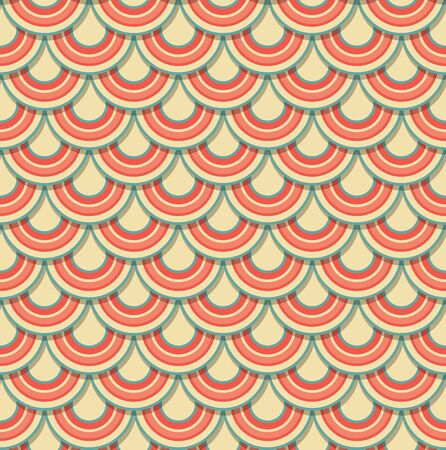 Pattern in the form of colored scales  Seamless pattern  Vector