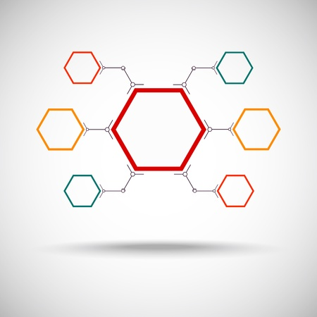 mediateur: reli�e par une cellule de couleur