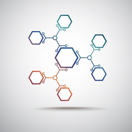 reliés par un graphique vectorielle de couleur cellulaires