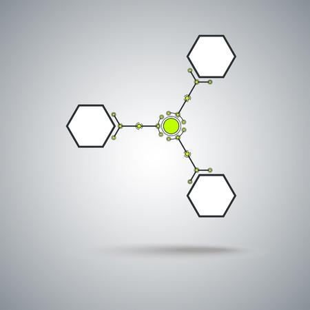 mediateur: Concept de communication, de trois cellules connect�es graphique vectorielle