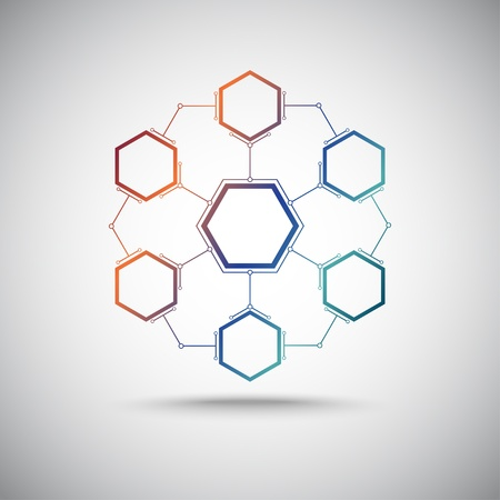 connected colored cells Stock Vector - 17990630