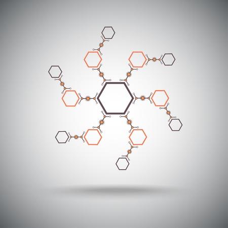 mediateur: compos�s form�s dans une forme de spirale graphiques vectoriels