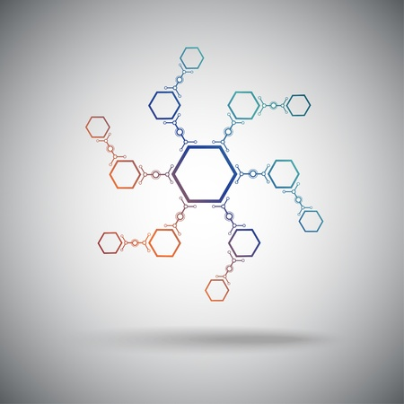 subsidiary: compounds formed in a spiral shape  Vector graphics  Illustration