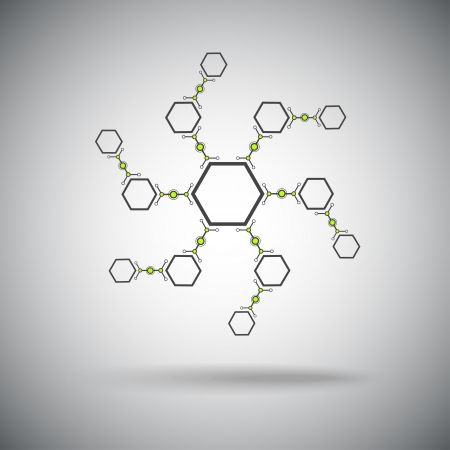 subsidiary company: compounds formed in a spiral shape  Vector graphics  Illustration