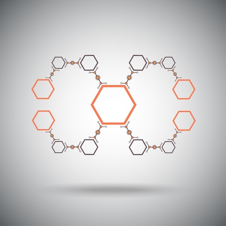 compounds: The compounds of hexagonal cells  concept Connection