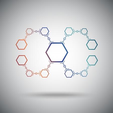 mediateur: Les compos�s de cellules hexagonales concept connexion