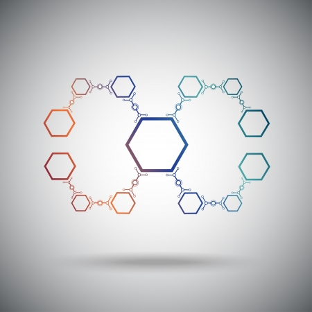 The compounds of hexagonal cells  concept Connection