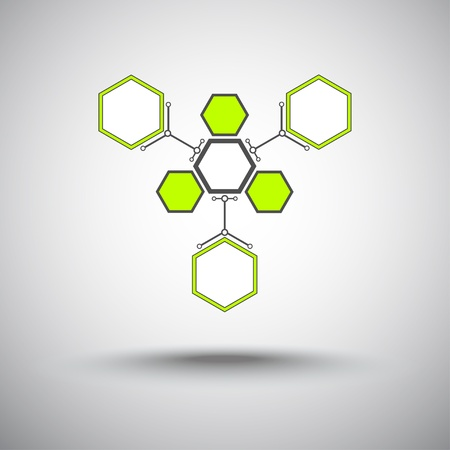 mediator: Three hexagonal cells that are attached to the main cell