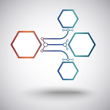 mediateur: Les cellules reli�es en ligne droite et de l'arc Illustration