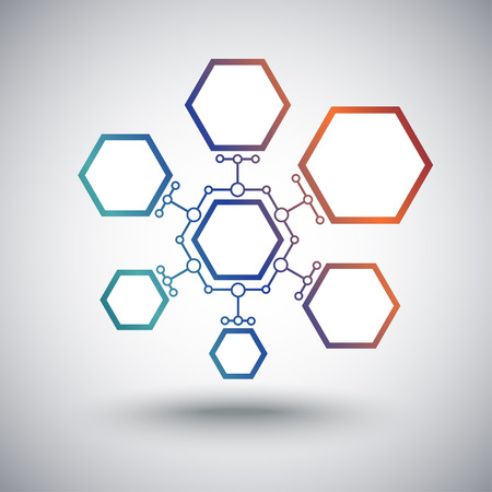 cells of different sizes interconnected Illustration