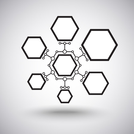 conectar: c�lulas de diferentes tama�os interconectados