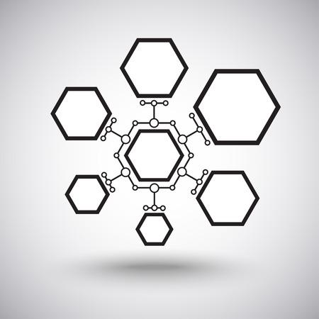 connect people: cellule di diverse dimensioni interconnesse Vettoriali