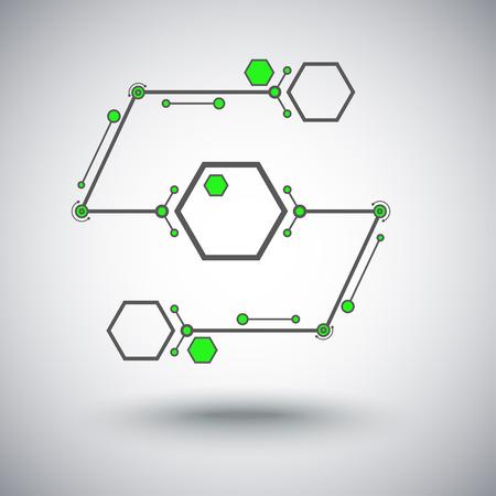 mediateur: Concept de la communication, deux cellules connect�es. Vector Graphics