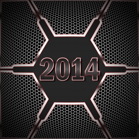 2014 against the background of technological textures