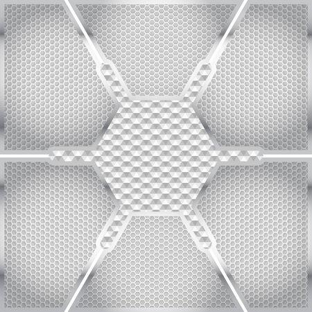 cell on technological background textures. metal. vector graphics