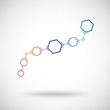 cells connected in waveform. gradient. Vector graphics.