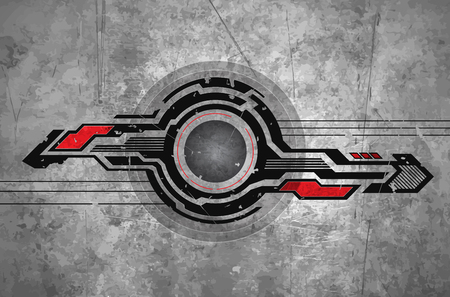 abstract futuristic background scratched. vector graphics. Illustration