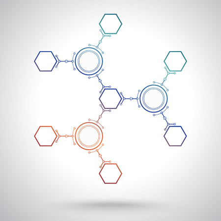 Communication of hexagonal and round cells.  Illustration