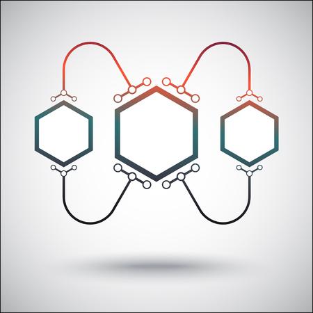 mediateur: deux petites cellules sont reli�es � la pente principale Illustration