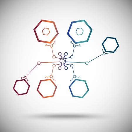 abstract nanobot of cells Illustration