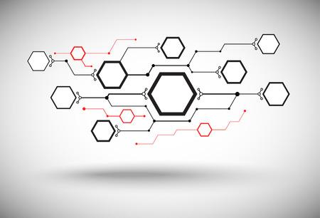 mediateur: un r�seau de cellules connect�es de diff�rentes tailles Illustration