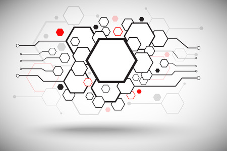Abstract background consisting of set of hexagonal cells. Vector Graphics