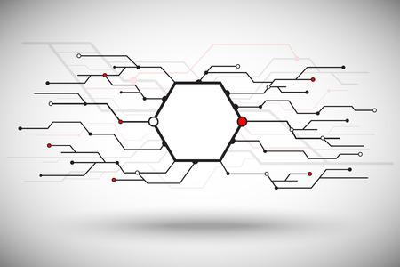 mediateur: cellule hexagonale avec une pluralit� de branches