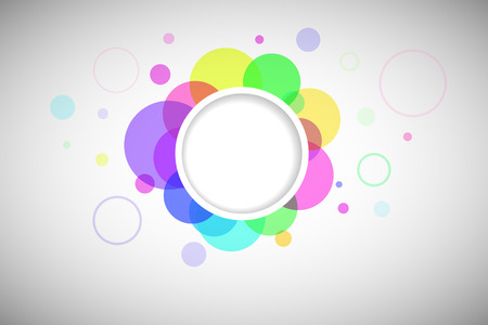 Round form to fill decorated with colored circles.