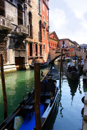 Venice gondola on canal #2 photo