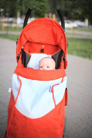 Baby in sitting stroller #9 photo