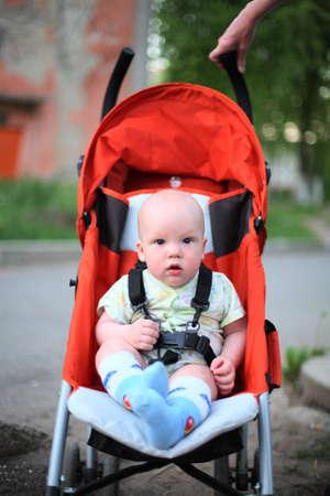 Baby in sitting stroller #5 photo