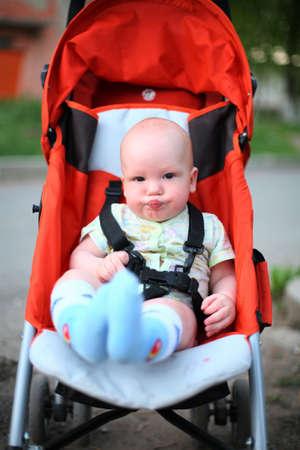 Baby in sitting stroller #8 photo
