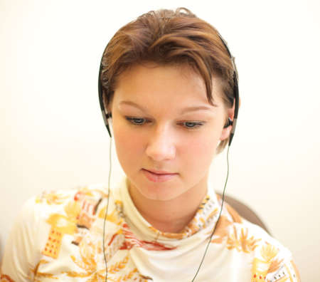Girl listening music #1 Stock Photo - 968424