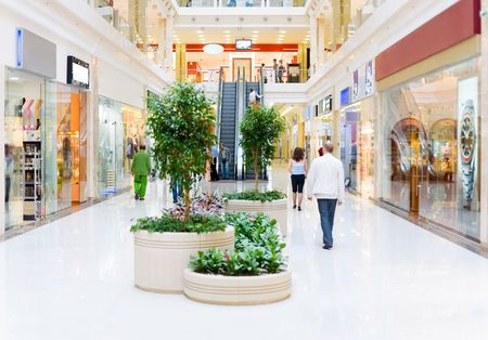 Shopping hall #4. Motion blur Reklamní fotografie - 1180233