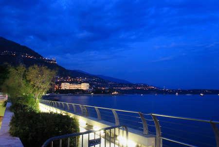 carlo: Monte Carlo harbor on night