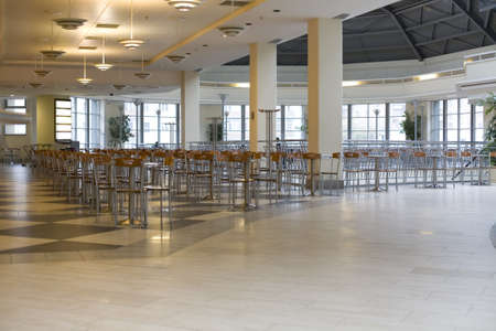 without people: Cafe in trade centre without people