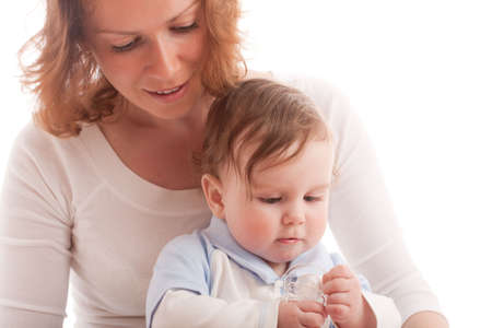 Portrait of parenting mother with baby boy Stock Photo - 4862837