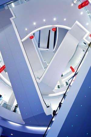Siam Paragon shopping mall. Upward view on escalator photo