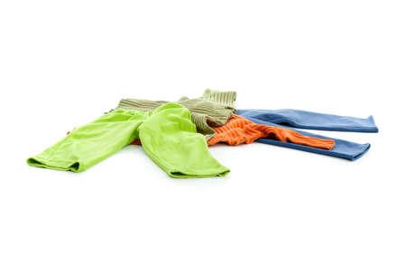 Child's clothing over white background Stock Photo - 9071748