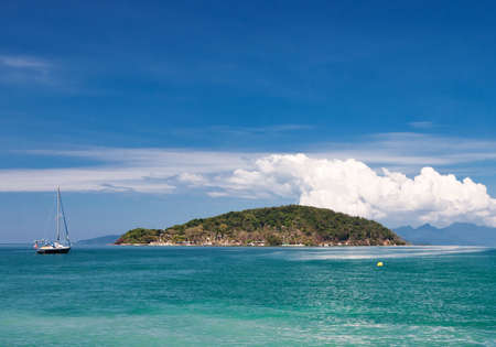 chang: Scenic view on small tropical island near Koh Chang island. Thailand Stock Photo