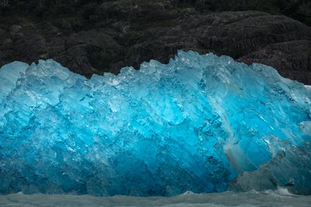 Glacier and iceberg in Patagonia