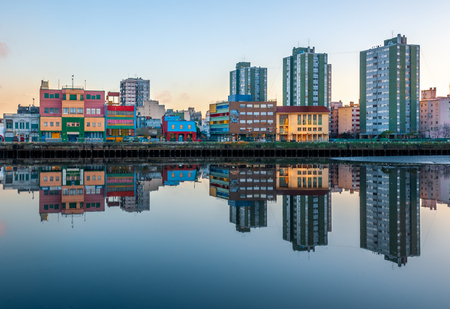 Colour cityskape and reflection in La boca Buenos Aires Argentina Stock Photo - 104285491