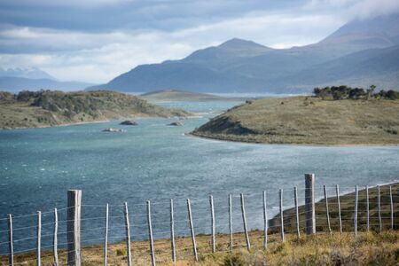 Wiring on the coast of the Beagle Channel in South patagonia, Argentina