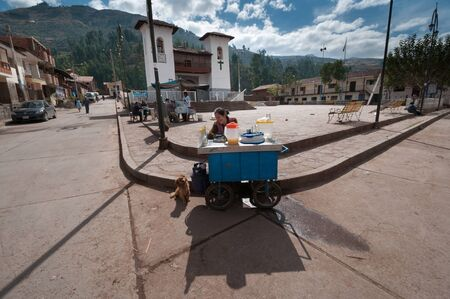 Huasao, Peru - August 17 2011: A mysterious town full of energy due to the large number of sorcerers and shamans. Éditoriale